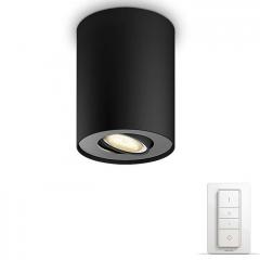 Лампа PHILIPS Pillar Hue single spot black 1x5.5W