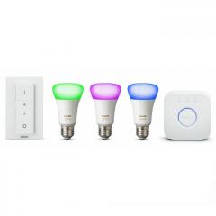 Комплект лампи PHILIPS Hue 10W A19 E27 3 set EU + switch