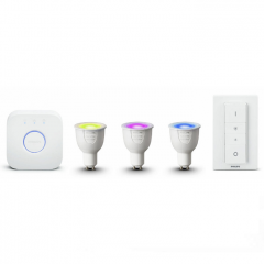 Комплект лампи PHILIPS Hue Starter kit GU10 White and color ambiance + switch