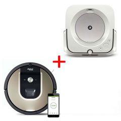 Прахосмукачка iRobot® Roomba 974 + Подочистачка Braava M6
