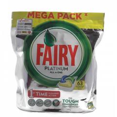Таблетки за съдомиялна Fairy Platinum 63