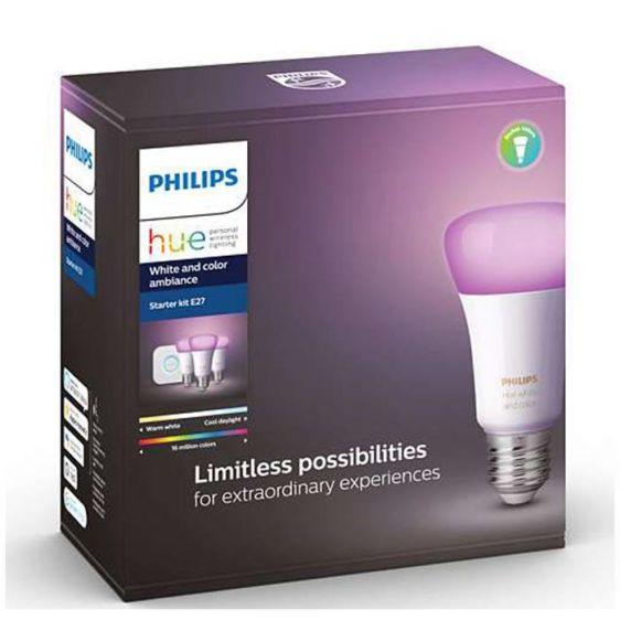 Комплект лампи PHILIPS Hue E27 за бяла и цветна светлина