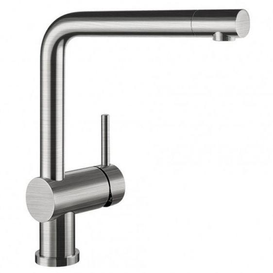 Смесител за вода BLANCO LINUS стомана с обработка
